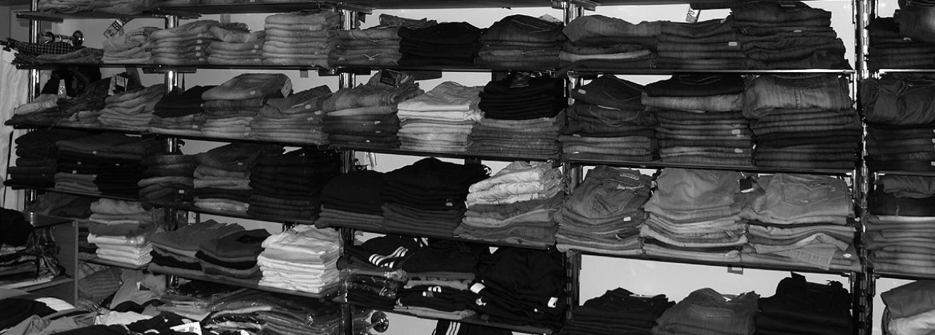 ruhák leltározása vonalkódos módszerrel