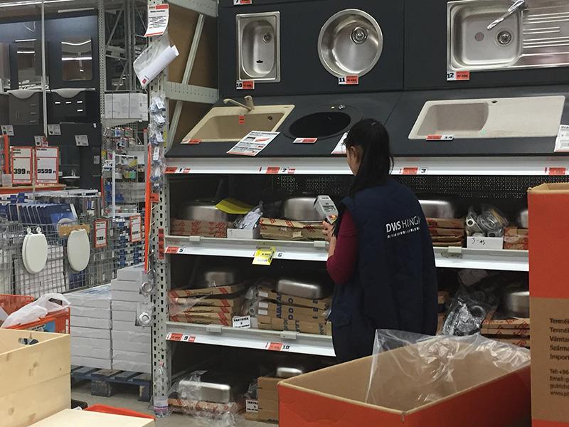 Áruleltár barkács áruházban